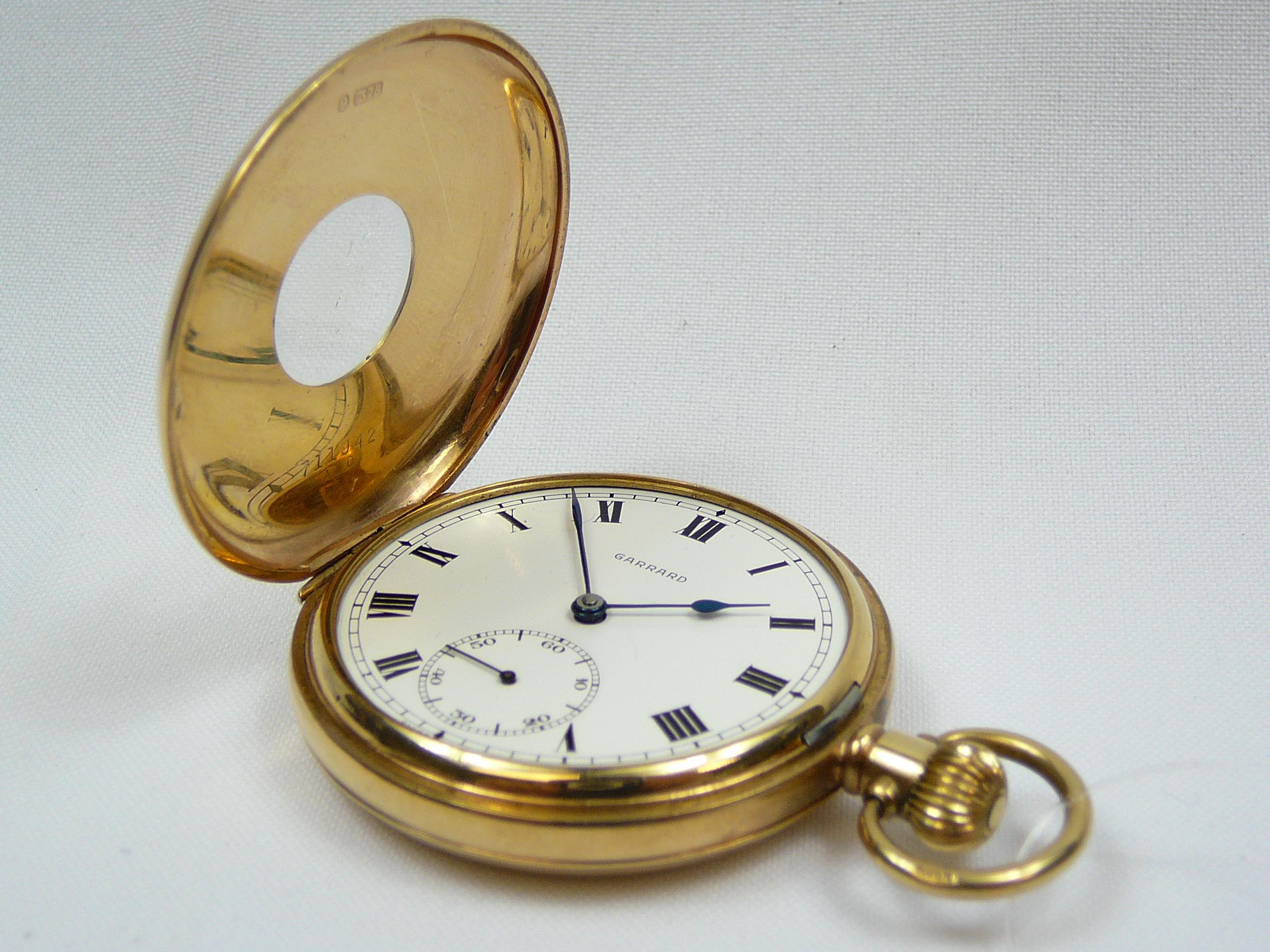 Lot 22 - Gents gold Demi Hunter pocket watch