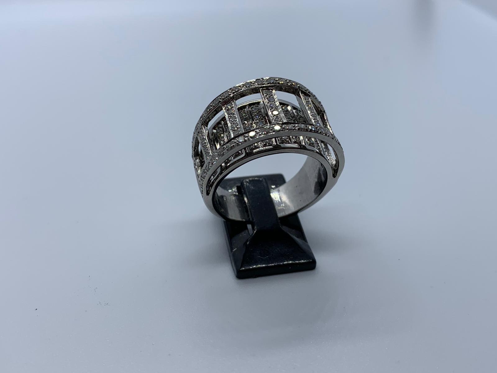 Lot 3 - 18ct white gold diamond ring