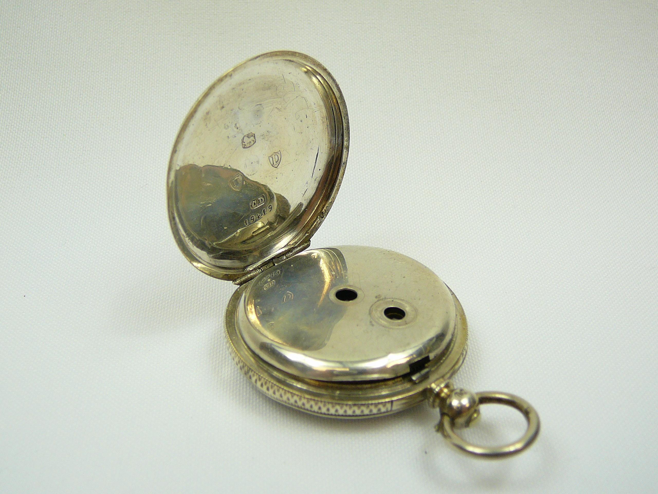 Lot 12 - Ladies Silver Pocket Fob Watch