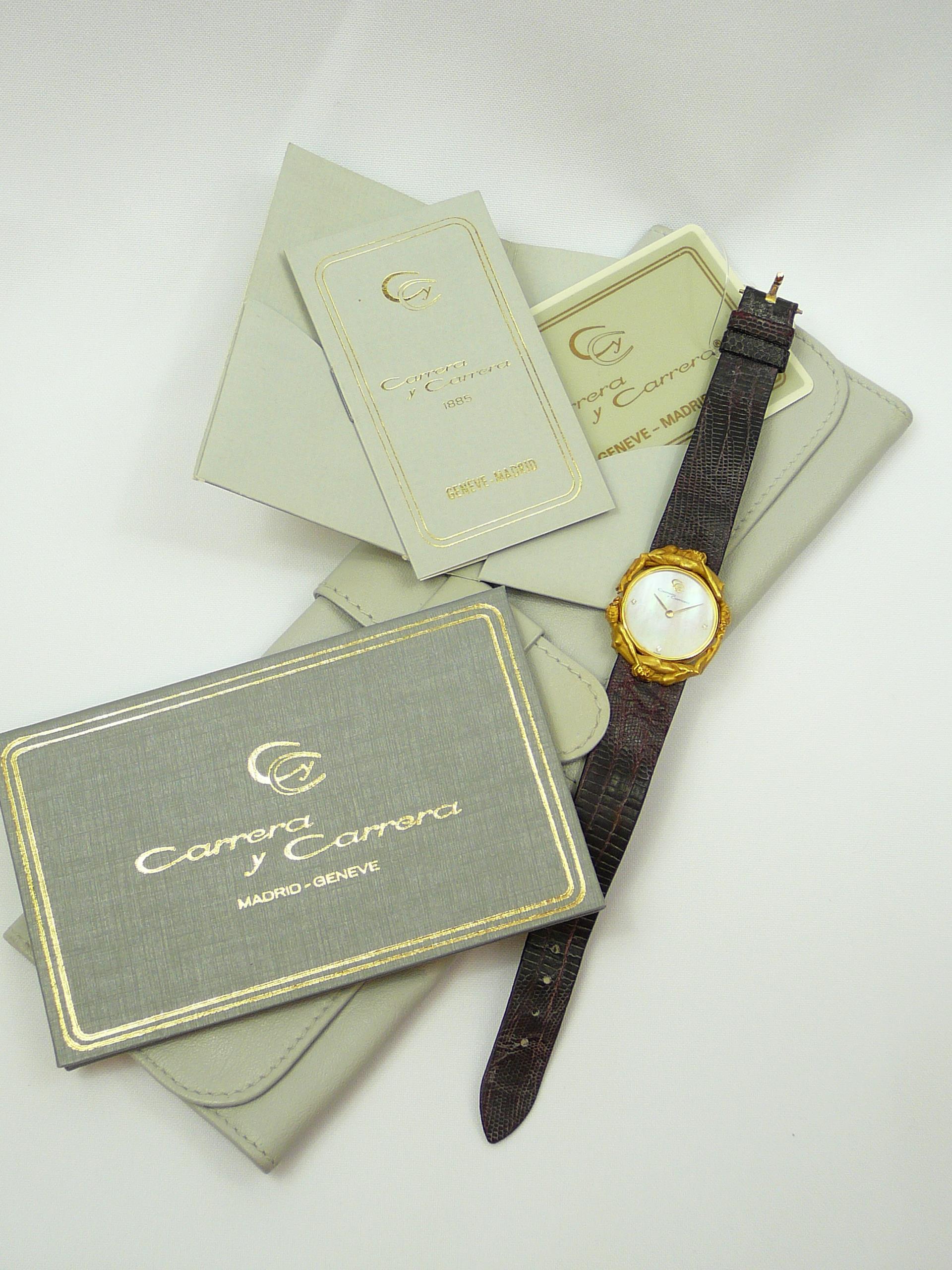 Ladies Carrera Y Carrera Gold Wrist Watch - Image 5 of 6