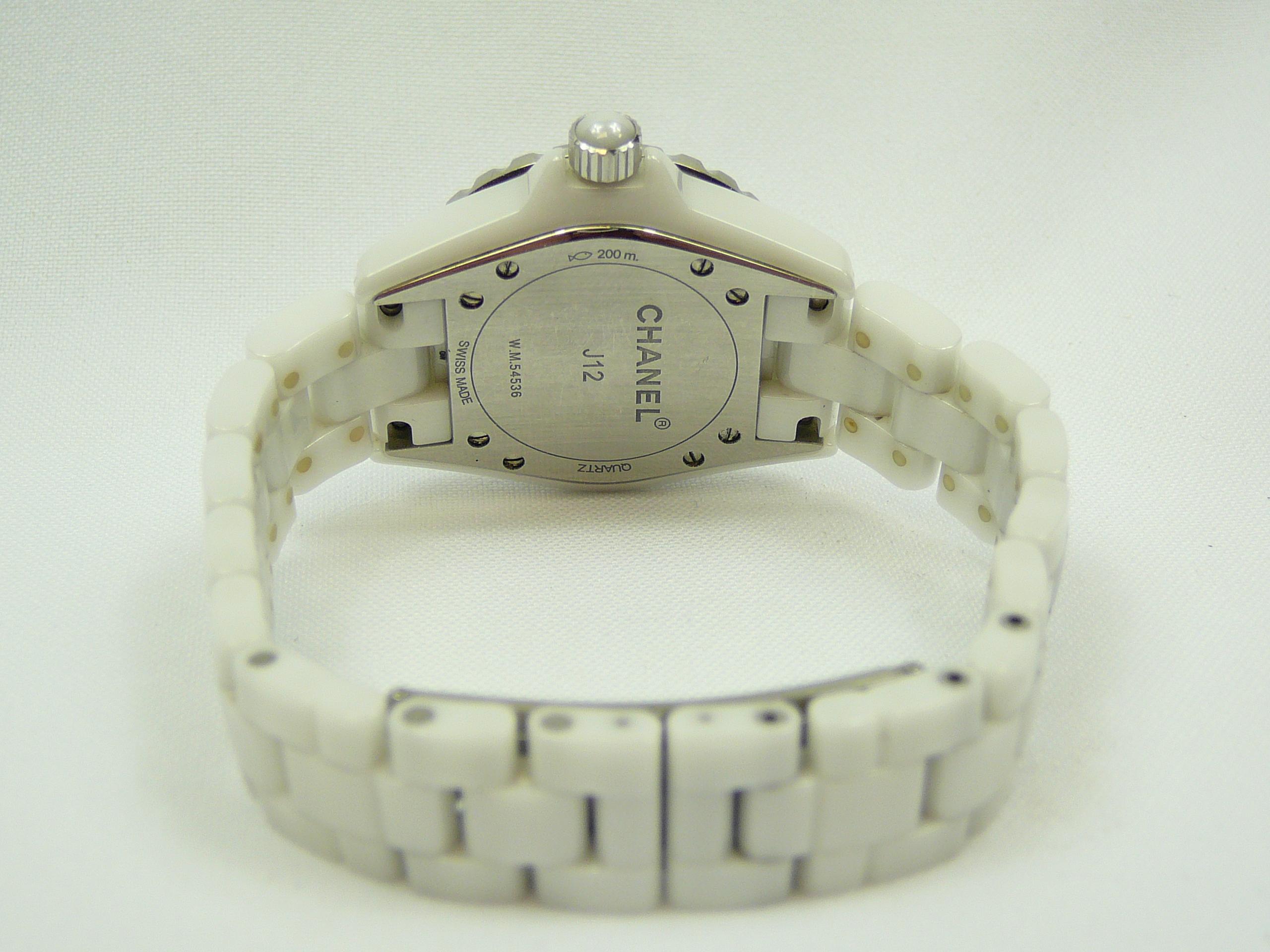 Ladies Chanel J12 Wrist Watch - Image 3 of 3