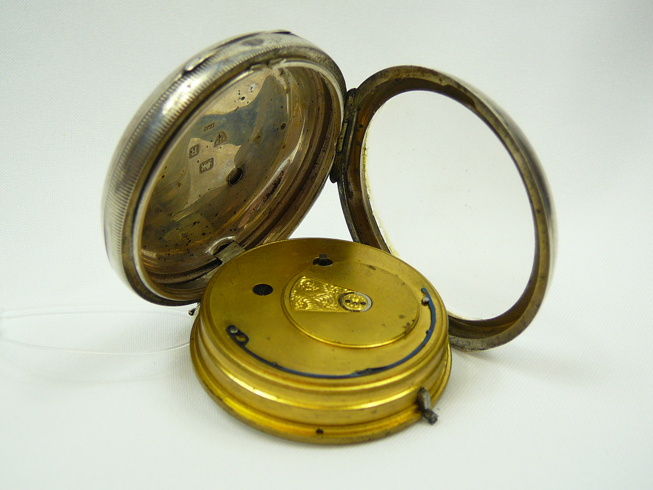 Gents Silver Pocket Watch - Image 4 of 4