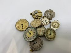 10 x assorted ladies watch movements