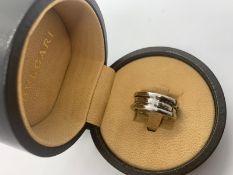 18ct white gold Bvlgari ring