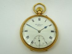 Gents Gold JW Benson Pocket Watch