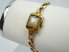 Ladies Vintage Gold Tudor Wrist Watch