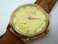 Gents Vintage Gold Omega Wrist Watch