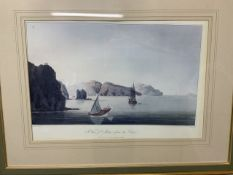 Two marine prints 'the view of Mutra from the east' and another W:60cm x D:cm x H:40cm W:56cm