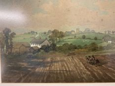 Watercolour of Morchard Bishop initialled C.E.W Sept 97. W:30cm x D:cm x H:22cm