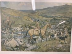 Lionel Edwards print 'the Dartmoor' W:49cm x D:cm x H:34cm