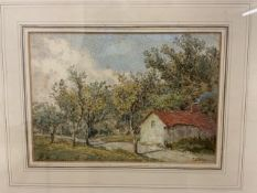 Patrick Naismith. English School. Capthorne Devon. Watercolour on paper, signed bottom right with