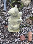 A reconstituted stone French Griffin. 74cm(h)