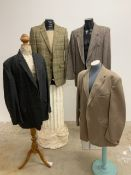 Lot 8 a collection of gents jackets to include Harris tweed. Sizes 42-44L (4)