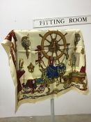 Rare vintage 1962 Hermes silk scarf 'Musee' by Phillipe Ledoux