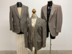 Three vintage tweed jackets. All size 42.