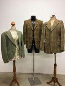 Three vintage gentleman's tweed jackets. 40-42M/L.