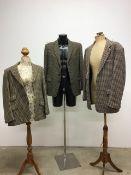 Three vintage gentlemens tweed jackets. Sizes 40L.