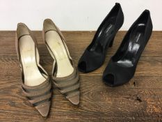 Two pairs of vintage ladies shoes to include Christian Louboutin (38) Sonia Rykel (40)