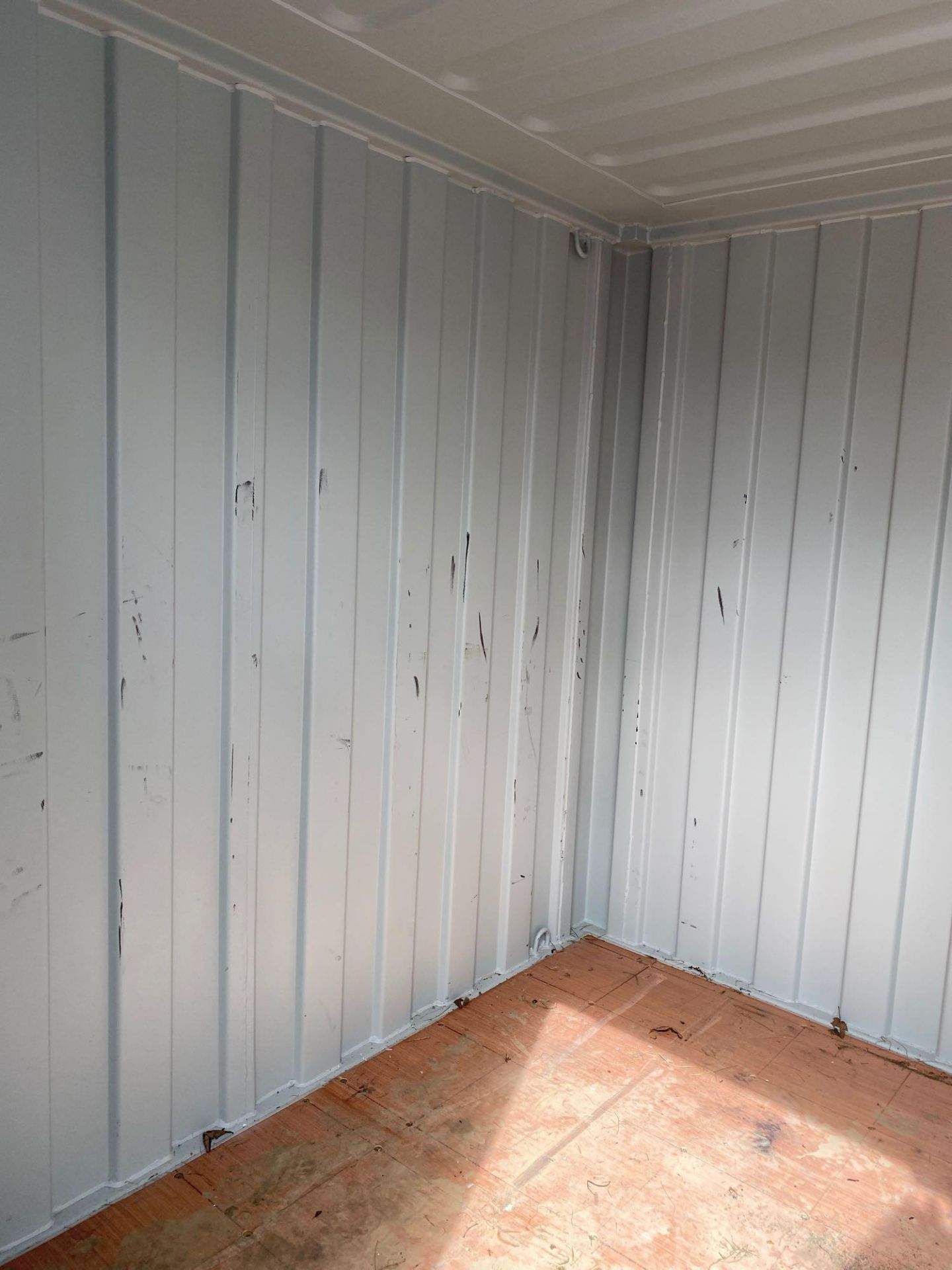 Lot 7 - NEW 7' MOBILE OFFICE/ STORAGE CONTAINER, BARN DOORS, SIDE DOOR, WINDOW, FORK POCKETS