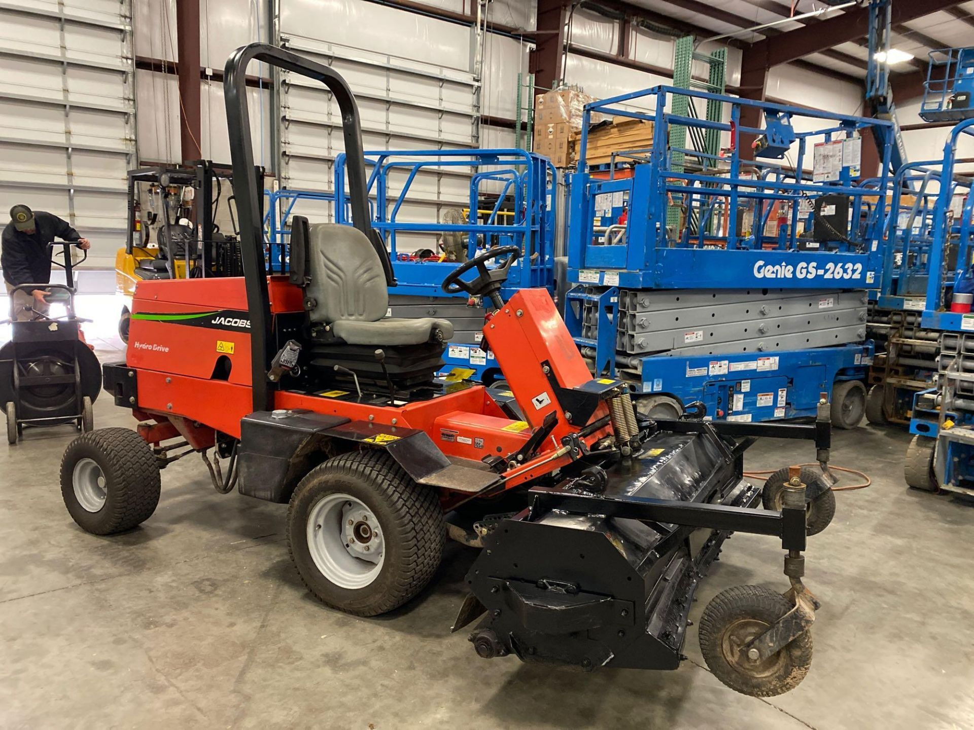 Lot 100 - JACOBSON HYDRO DRIVE RIDE ON MOWER, 1,740 HOURS SHOWING, KUBOTA DIESEL, RUNS AND OPERATES