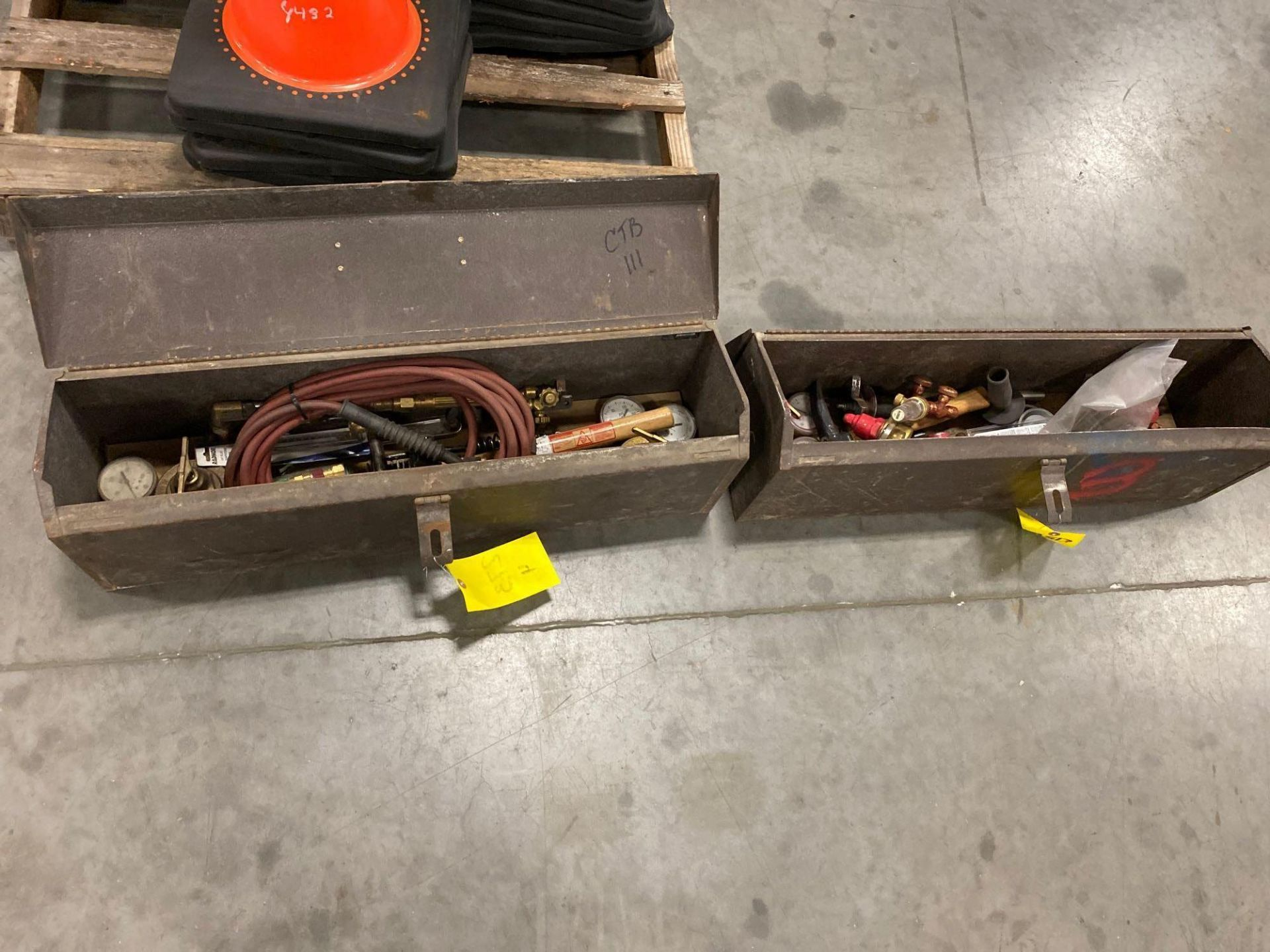 Lot 273 - TWO STORAGE BOXES WITH TOOLS