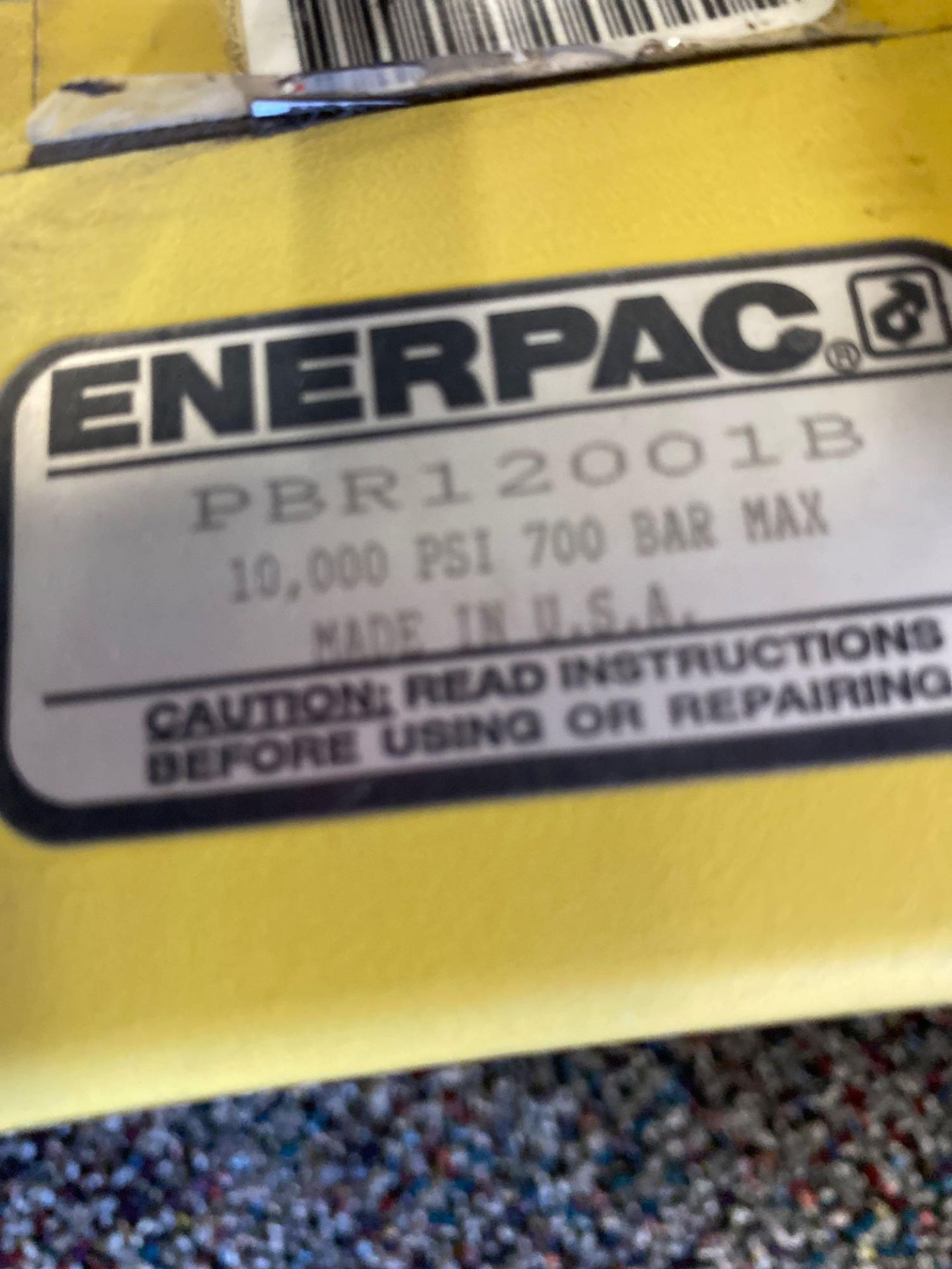 Lot 339 - ENERPAC PBR12001B HYDRAULIC PUMP AND BATTERY CHARGER