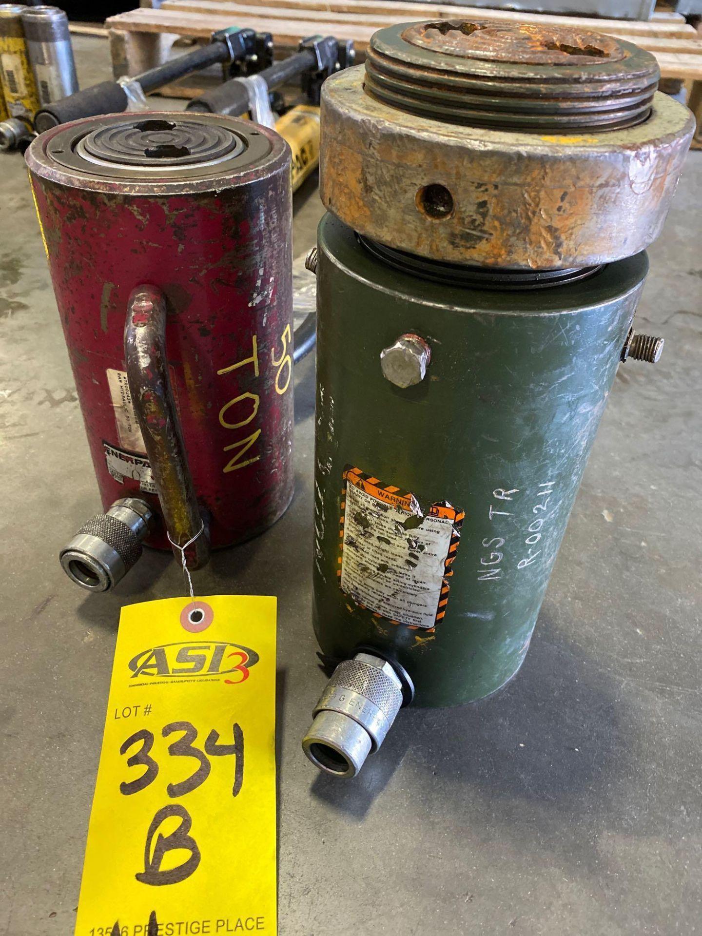 Lot 334B - 50 TON ENERPAC HYDRAULIC CYLINDERS