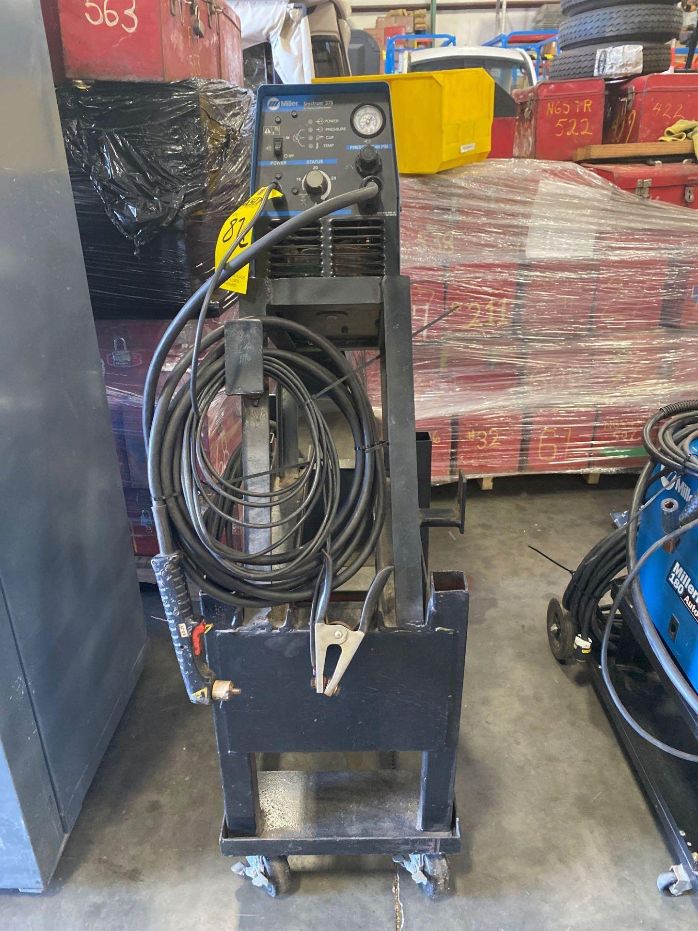Lot 87C - MILLER SPECTRUM 375 DC PLASMA CUTTING SYSTEM WELDER