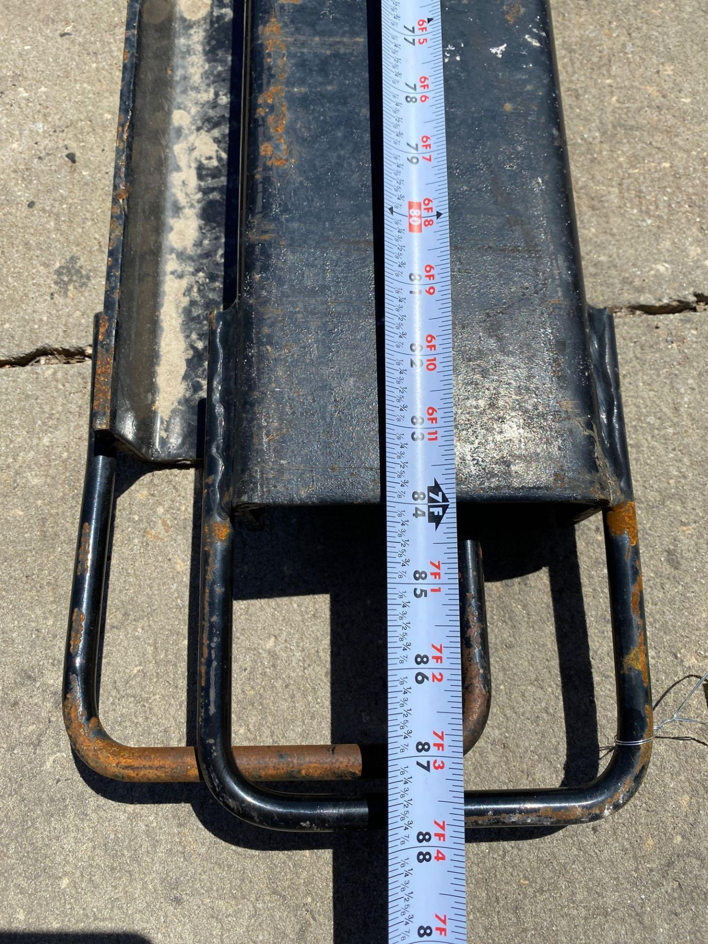 Lot 9 - PAIR OF 7' SLIDE ON FORK EXTENSIONS