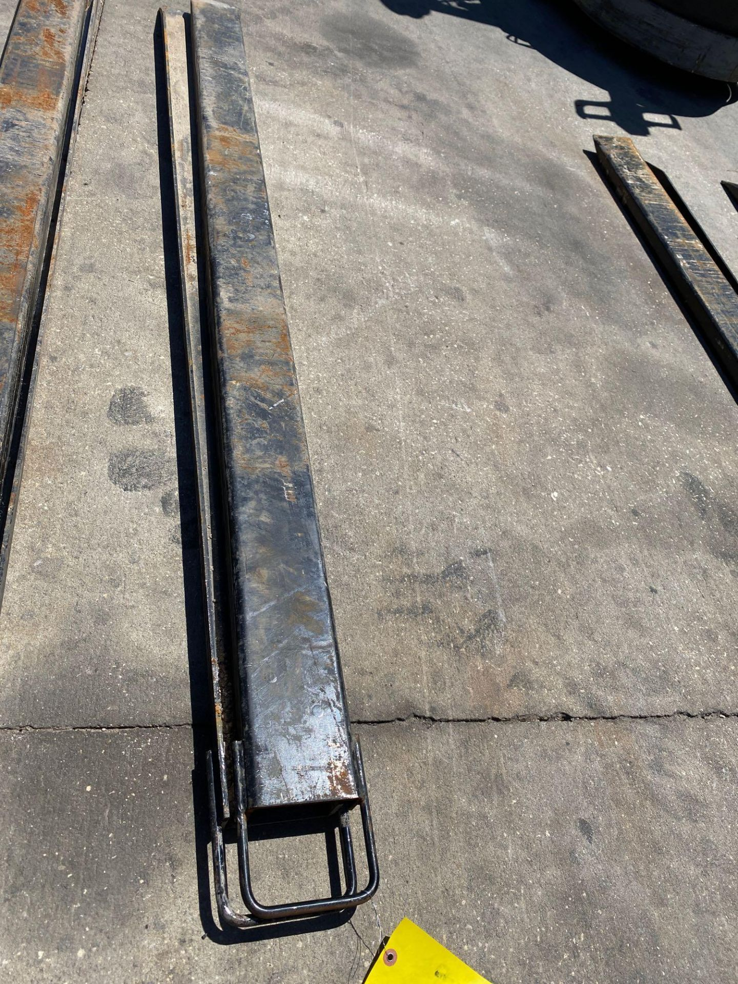 Lot 9B - PAIR OF 7' SLIDE ON FORK EXTENSIONS