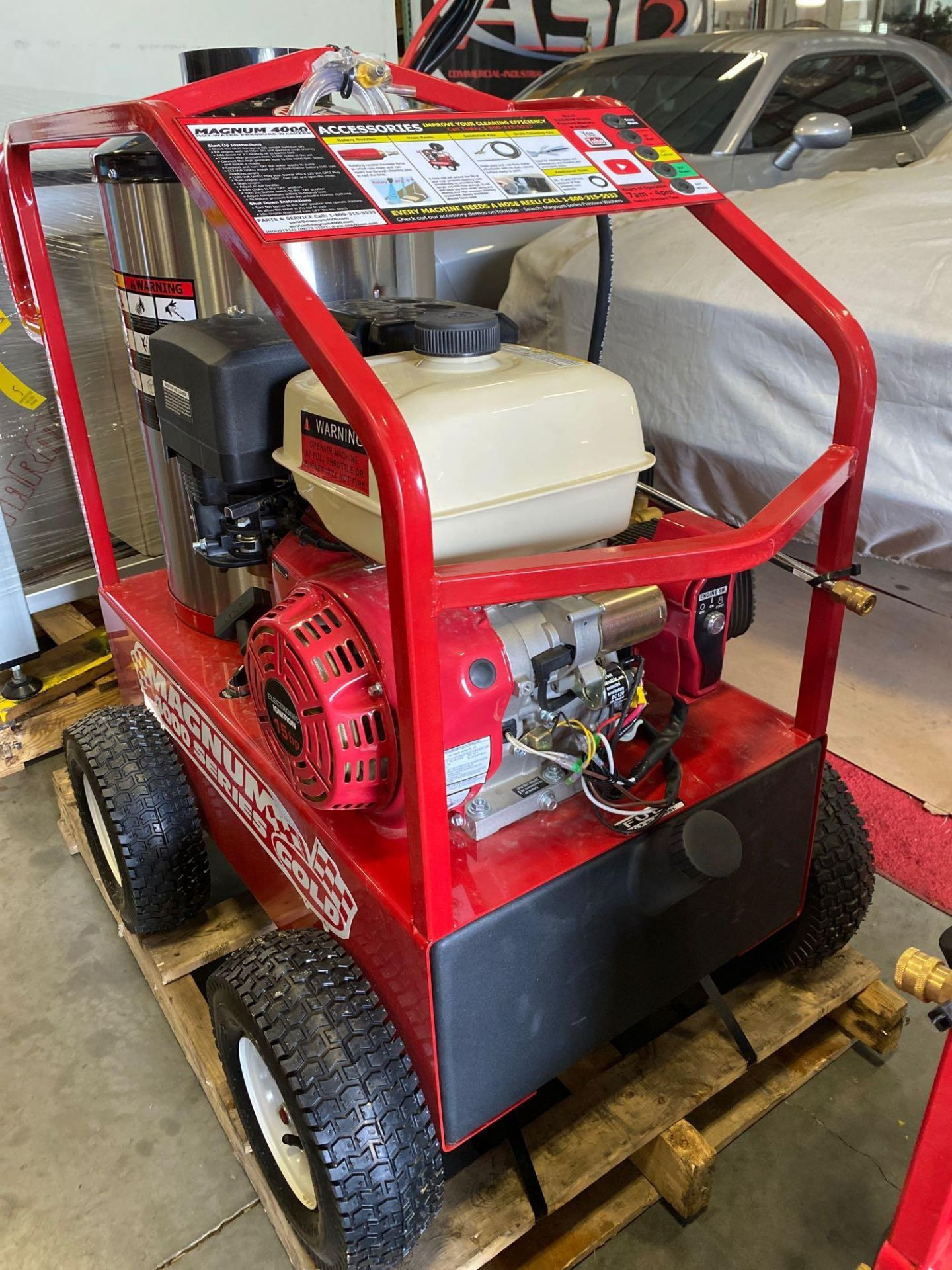 Lot 5 - NEW/UNUSED 2020 MAGNUM 4000 HEATED PRESSURE WASHER, ELECTRIC START