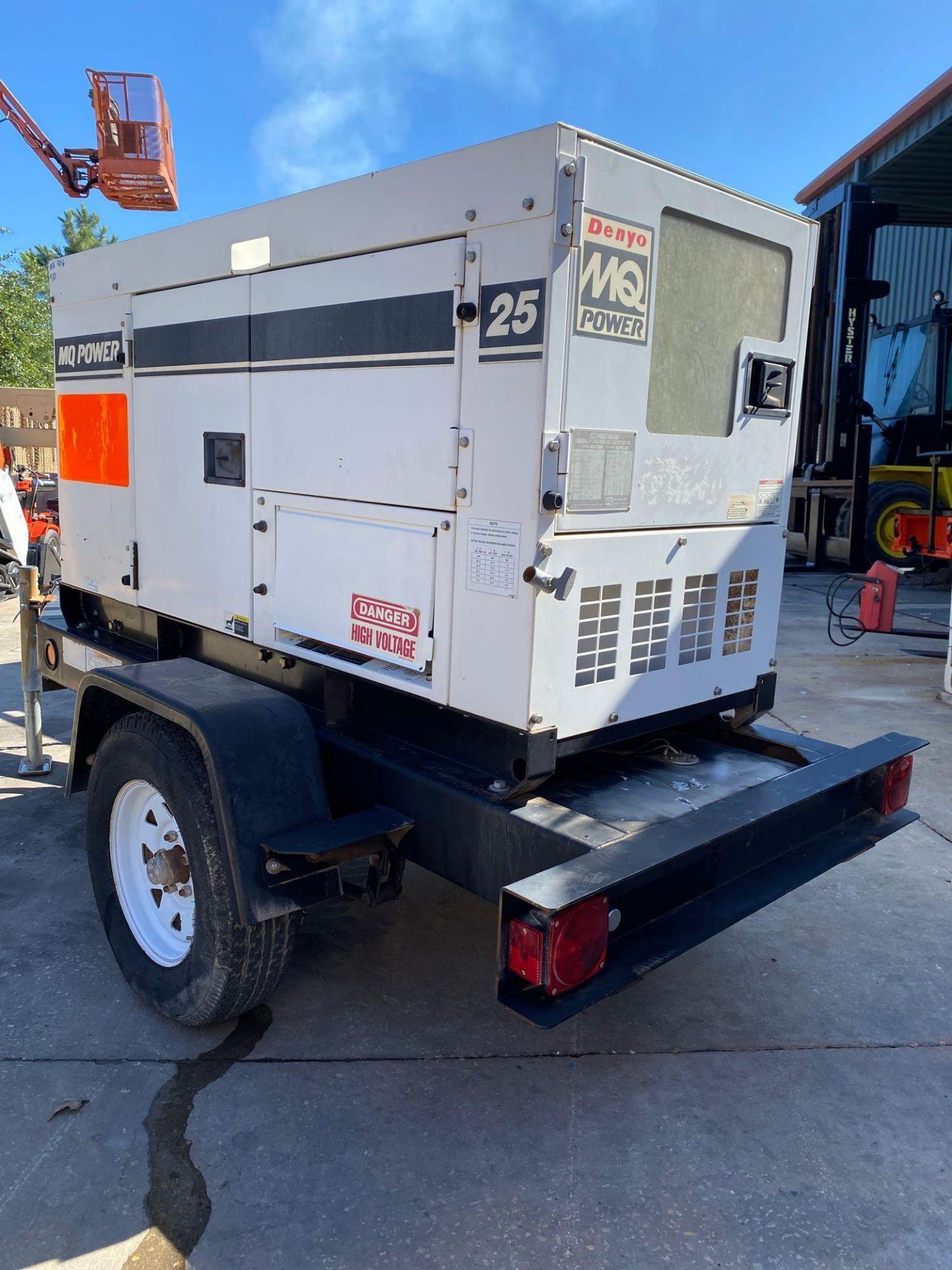 Lot 35F - 2012 WHISPERWATT MQ POWER DIESEL GENERATOR, TRAILER MOUNTED, 20KW, 25KVA, RUNS AND OPERATES