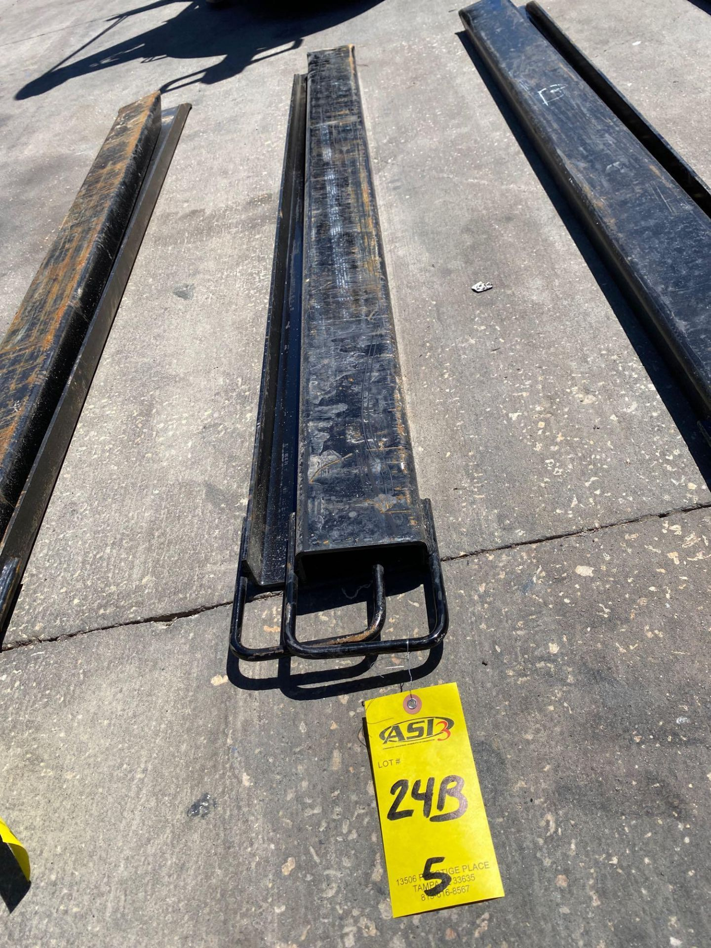 Lot 24B - PAIR OF 6' SLIDE ON FORK EXTENSIONS