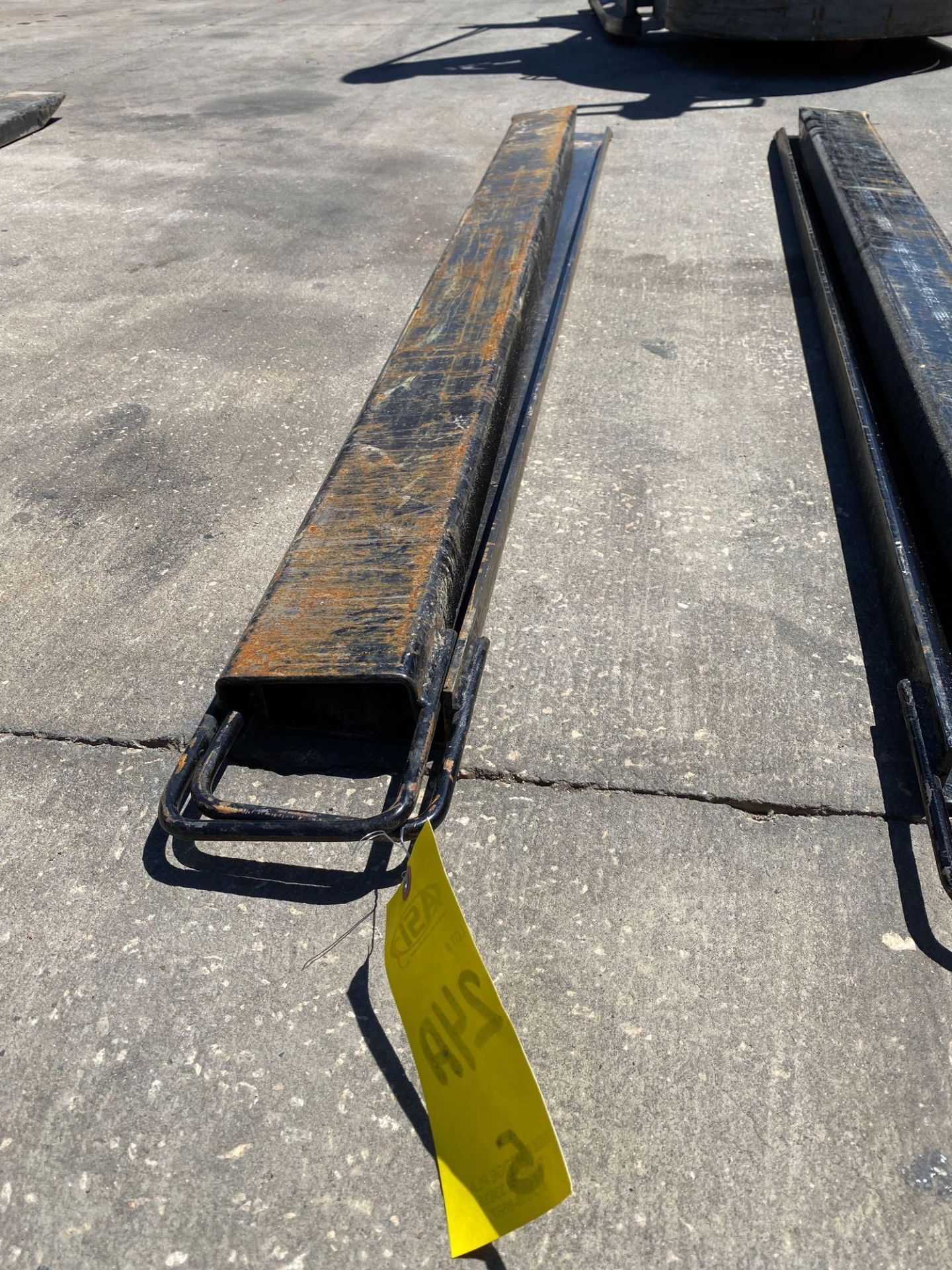 Lot 24A - PAIR OF 6' SLIDE ON FORK EXTENSIONS