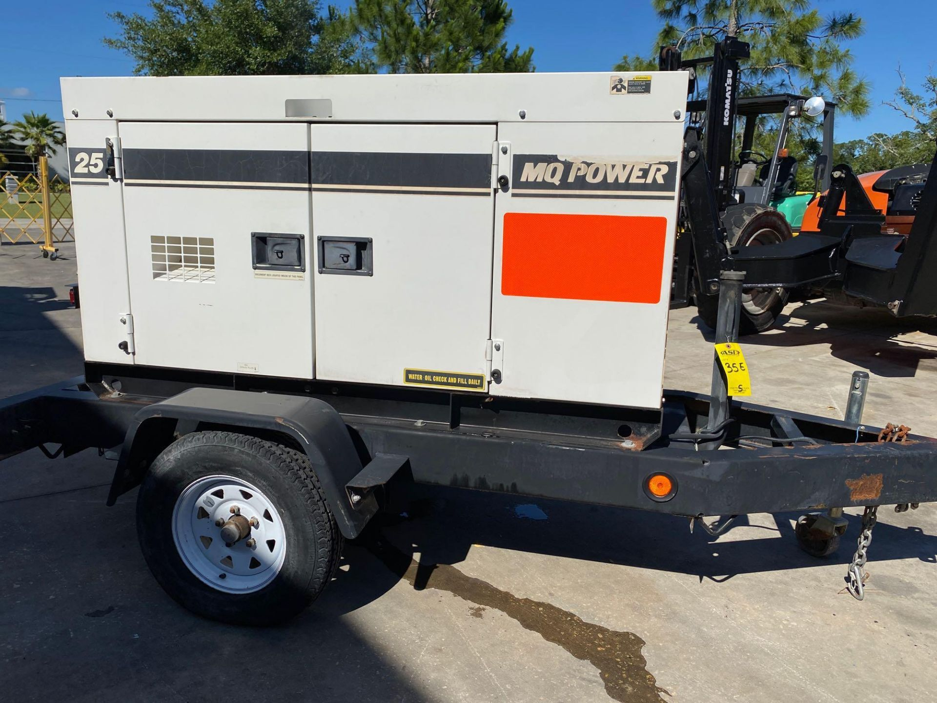 Lot 35E - 2011/2012 WHISPERWATT MQ POWER DIESEL GENERATOR, TRAILER MOUNTED, 20KW, 25KVA, RUNS AND OPERATES