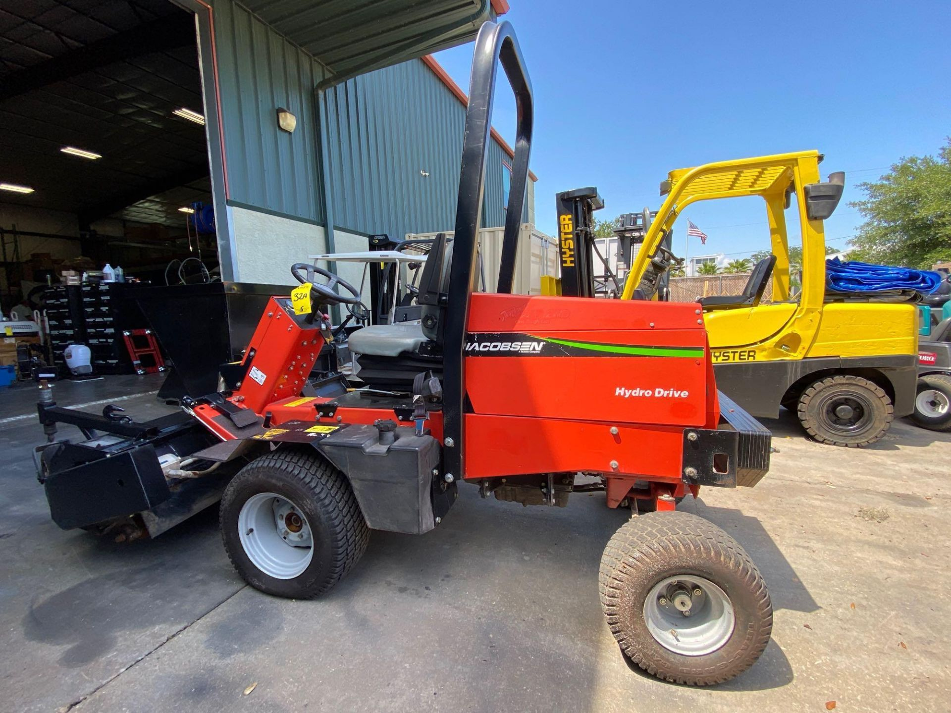 Lot 32A - JACOBSON HYDRO DRIVE MOWER, GAS POWERED, MODEL 628D, RUNS AND OPERATES