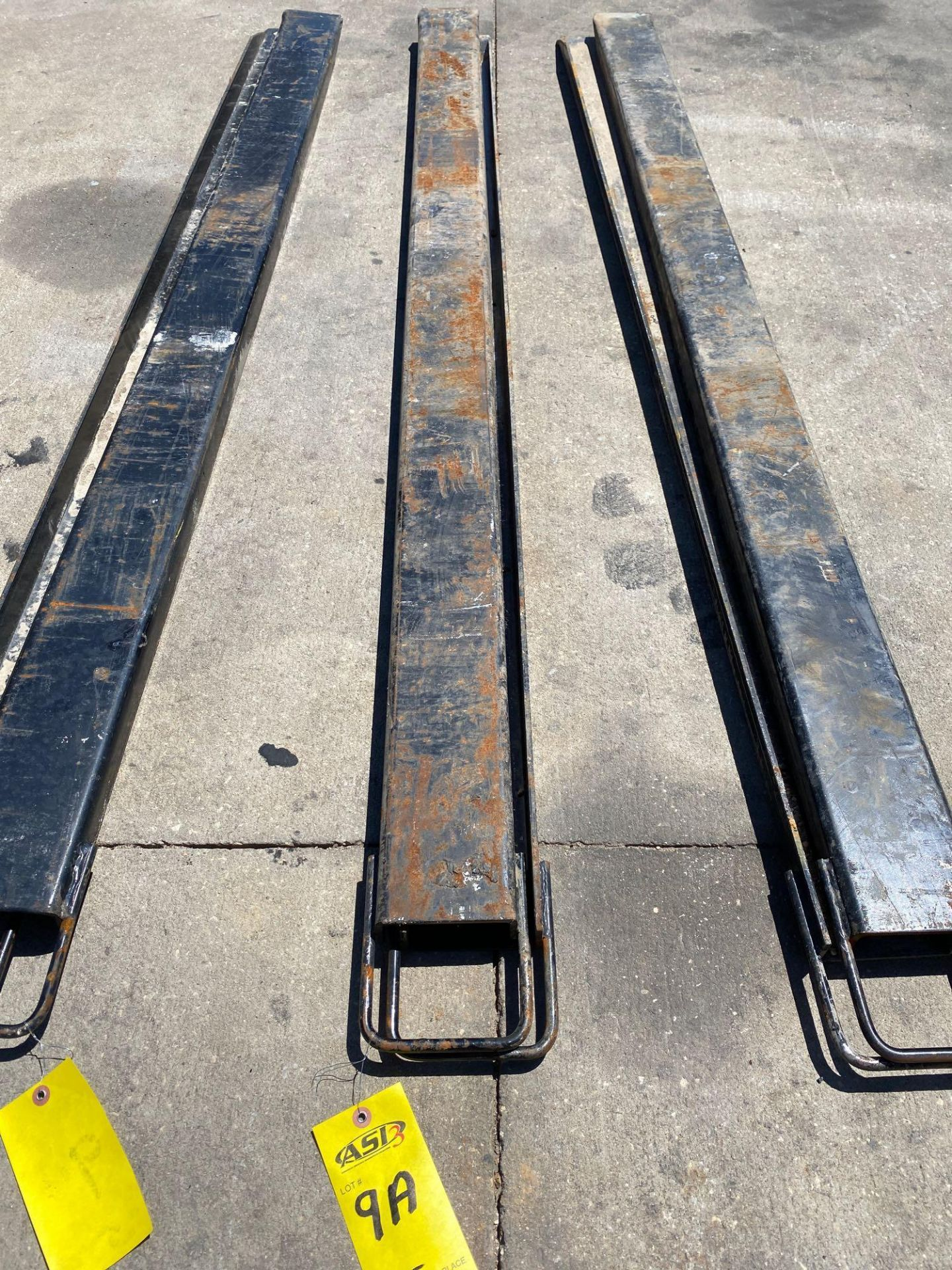 Lot 9A - PAIR OF 7' SLIDE ON FORK EXTENSIONS
