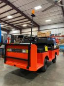 2012 TAYLOR-DUNN ELECTRIC SHOP/YARD CART MODEL B0-210-36, 883 HOURS SHOWING, 2-SPEED