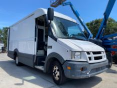 2012 ISUZU STEP VAN, AUTOMATIC, 3.0L DIESEL, BUILT IN STORAGE SHELVES, RUNS & OPERATES