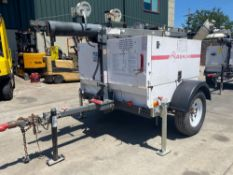 2011 MAGNUM TRAILER MOUNTED LIGHT TOWER/GENERATOR MODEL MLT5060K, 6 KW, DIESEL POWERED, RUNS AND OPE