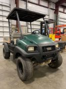 CLUBCAR GAS POWERED UTILITY CART, 4x4, DUMP BED, RUNS AND DRIVES