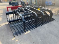 "UNUSED 72"" UNIVERSAL SKID STEER GRAPPLE ATTACHMENT"
