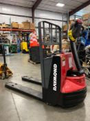 2012 RAYMOND ELECTRIC PALLET JACK MODEL 102T-F45L, 24V, 4,500 LB CAPACITY, BUILT IN BATTERY CHARGER,