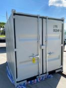 UNUSED 8' CONTAINER/PORTABLE OFFICE WITH WINDOW AND SIDE DOOR ENTRANCE