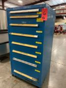 STANLEY VIDMAR 8 DRAWER PARTS CABINET LOADED FULL OF CONTENTS
