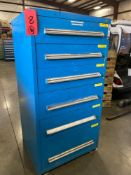 6 DRAWER PARTS CABINET LOADED FULL OF CONTENTS