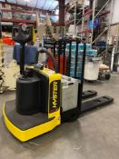 2018 HYSTER ELECTRIC PALLET JACK MODEL B60ZHD, 6,000 LB CAPACITY, 24V, 524 HOURS SHOWING, RUNS AND O