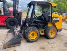 2012 JCB 300 ECO POWER BOOM DIESEL SKID STEER, HEAT/AC, BUCKET ATTACHMENT