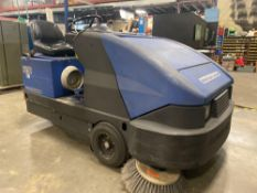 AMERICAN-LINCOLN 6150 PROPANE POWERED FLOOR SCRUBBER, RUNS AND OPERATES
