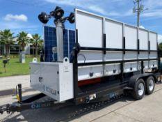 2015 MOBILE SOLAR POWER GENERATOR TRAILER, TEN 270 WATT SOLAR PANELS, KUBOTA 11KW DIESEL GEN